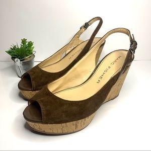 Marc fisher platform wedge sandals
